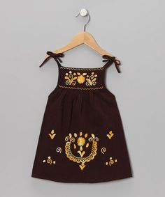 Take a look at this Brown & Gold Lolita Dress - Infant, Toddler & Girls by Little Cotton Dress on #zulily today!