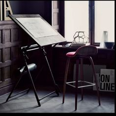 Love the drafting table and stool