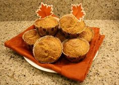 Weight Watchers 2 Point- Pumpkin Muffins (points plus? I know this has been pinned and repinned but I like having a recipe with the nutrition info, i'm a recipe kind of gal).