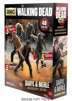 Daryl & Merle Woodbury Arena Walking Dead TV McFarlane Building Sets Figure Pack #McFarlaneToys
