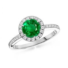 my birthstone (emerald) engagement ring. Skip the diamonds!