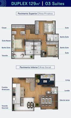 New House Plans Design Layout Stairs Ideas Plan Duplex, Duplex House Plans, Apartment Floor Plans, New House Plans, Small House Plans, House Floor Plans, Layouts Casa, House Layouts, Tiny House Layout