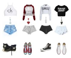 """""""My squad clothing"""" by ssib3112 on Polyvore featuring Calvin Klein, WithChic, Converse, Boohoo and Bling Jewelry"""