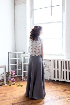 Maddie's gorgeous interpretation of The Gabriola Skirt from Sewaholic #sewing #sewaholic #patterns