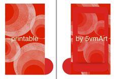 6 divisori formato personal per filofax con illustrazioni astratte originali by 5vmArt. Printable