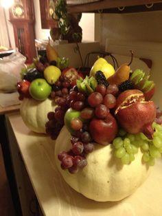 Fall fruit display