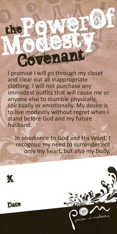modesty covenant power-of-modesty