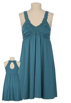 Maurices Lace Front Keyhole Back Knit Dress