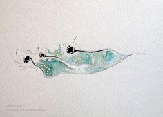 Collaboration ~ Paul Henderson (Ink) & Shell Rummel (Watercolor)