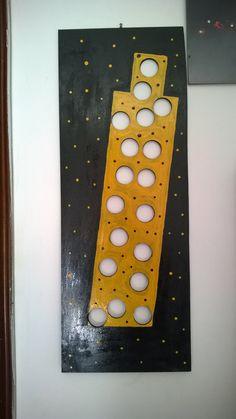 MarZen - Torre coccinella 26x70 Smalto su tavola