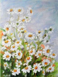 Rumianki Plants, Painting, Daisies, Home, Painting Art, Flora, Paintings, Plant, Paint