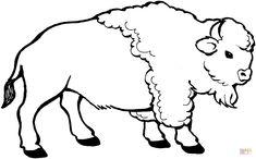 Bison coloriage th me indiens d 39 am rique pinterest coloriage indiens et chanson indienne - Coloriage bison d amerique ...