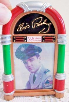 Singing Elvis Presley Jukebox Christmas Ornament 2007