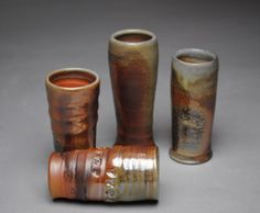 Clay Shot Glass Set Wood Fired R2 by JohnMcCoyPottery on Etsy, $80.00