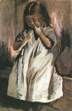Little Girl by Max Liebermann