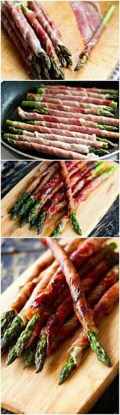 Asparagi al prosciutto cotto / Spárga főtt sonkával  Recept : 20 percig főzzük a spárgát, majd a sonkát körbe tekerve serpenyőben vagy sütőben 10 perc alatt át pirítjuk. Ricetta: sbollentare gli asparagi per 20 minuti,avvolgere con prosciutto cotto e in padella o forno cuocere per 10 minuti