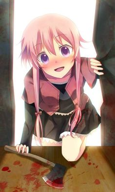 30 day anime challenge Day 18 Favorite supporting female character Yuno Gasai from mirai Nikki or future diary