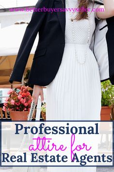 Professional Attire and Branding Tips for Real Estate Agents How to dress as a professional real estate agent? Professional appearance tips for agents includes what real estate agents wear and how successful real estate agents should dress. Real Estate Business, Real Estate Tips, Real Estate Investing, Real Estate Marketing, Real Agent, Types Of Clothing Styles, Sell Your House Fast, Estate Agents, Professional Attire
