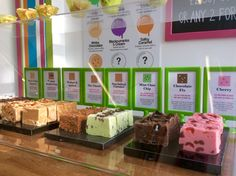 Hand-made fudge at Bliss Ice Cream Parlour, on the Isle of Wight.
