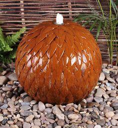 50cm-Sphere-Water-Feature-Fountain-w-Lights-Corten-Steel-Outdoor-Garden-Patio