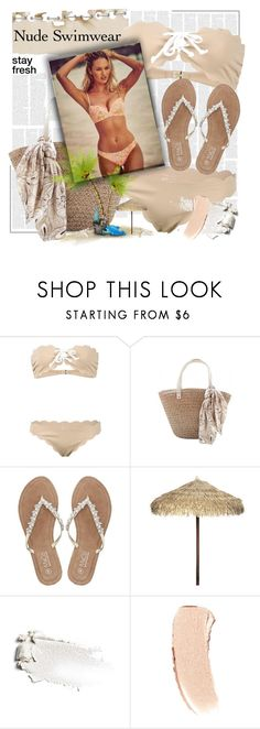 """""""Nude Swimwear"""" by summersunshinesk7 ❤ liked on Polyvore featuring Marysia Swim, M&Co, Victoria's Secret and Bobbi Brown Cosmetics"""