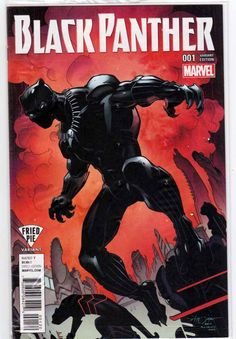 Black Panther #1 (2016) Fried Pie Variant Larry Stroman Cover. Ta-Nehisi Coates Story. Brian Stelfreeze Pencils.