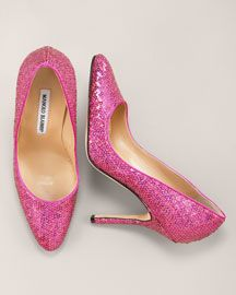 pink sequin Manolo's - check... can't wait for the big day to wear them