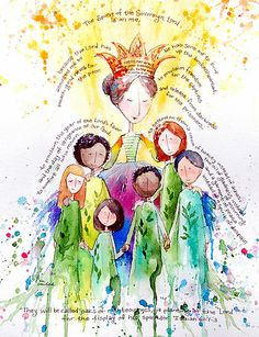 Isaiah 61 Woman by Eva C. Crawford