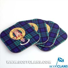 MacCallum Clan Crest Coaster Set