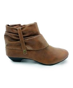 Loving this Tan Distressed Joey Ankle Boot on #zulily! #zulilyfinds