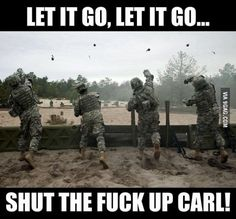 shut up carl meme generator - Dankland Military Jokes, Army Humor, Army Memes, Marine Humor, Video Game Memes, Video Games Funny, Funny Games, Carl Meme, Cod Memes