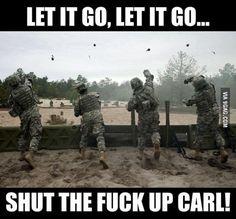 shut up carl meme generator - Dankland Military Jokes, Army Humor, Army Memes, Military Life, Marine Humor, Video Game Memes, Video Games Funny, Funny Games, Carl Meme