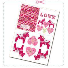 free printable envelope valentine card 2