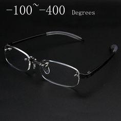Novo Sem Moldura óculos de miopia Óculos de Armação Homens Mulheres Quadro  Miopia Óculos Sem Aro 091b117b6f