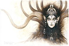 """Titania""  from Celtic Fairies Series by Jean Baptiste Monge"