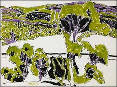 David Milne, Green and Mauve, Boston Corners, NY Canadian Painters, Canadian Artists, David Milne, Canada Images, Watercolor Techniques, Art Auction, American Art, Home Art, Painting & Drawing