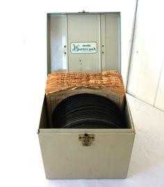 vintage record case