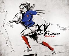 Rugby Feminin, Rugby Poster, Womens Rugby, Rugby Sport, Dark Art Drawings, Team Games, Ecole Art, Art For Art Sake, Illustrations