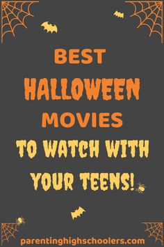Finding Halloween movies for teens can be challenging since the age range is pretty big. So, I put together this list to help you find a few.  Some of these are old favorites, some are fairly new to the scene, and a couple were recommendations from friends that we cannot wait to try… #halloweenmoviesforteens #halloweenmovies #parentinghighschoolers Halloween Movies To Watch, Halloween Movies For Tweens, Movies To Watch Teenagers, Charlie Brown Movie, Holiday Movie, Holiday Fun, Birthday Party For Teens, Parenting Teenagers, Halloween Party