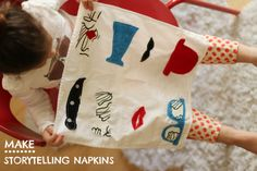 Make Dinner a blast for kids with Storytelling Napkins! #kids #dinner #craft #stories