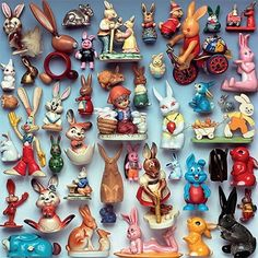 Guido Cecere is an accomplished photographer and art director from Italy. He gathers collections of oddities, then artfully arrange. Retro Toys, Vintage Toys, Retro Vintage, Collections Of Objects, Displaying Collections, Assemblage Art, Vintage Christmas Ornaments, Vintage Easter, Bunt