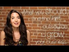 What You Should (and Shouldn't) Outsource To Grow Your Business  http://marieforleo.com/2011/08/outsource-grow-business/  Want to know great tips about outsourcing your business? Read on and watch this video. Sign up here (it's FREE!): www.marieforleo.com