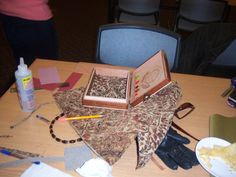 Amidst the creative chaos, an incredible purse is realized! From the 11/29 class at Guilford Free Library.