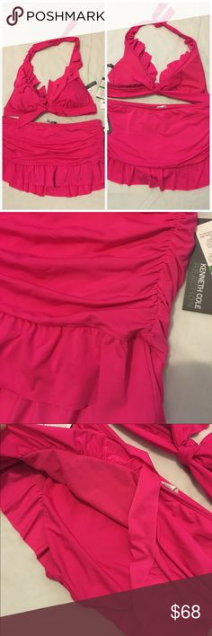 DISCOUNT SHIPKenneth Cole Reaction Gorgeous bright pink 2-piece Kenneth Cole Reaction Swim