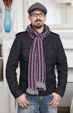 "free crochet scarf pattern, ""subway"""