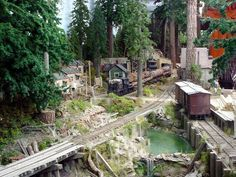On30 Logging layout scene. Absolutely stunning!