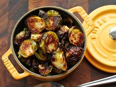Easy Roasted Brussels Sprouts - side