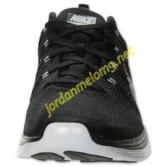 Black 554887 011 Nike Flyknit Lunar 1 Mens White