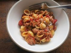 sweet sausage bolognese