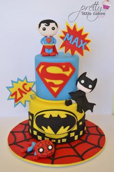 Super heroes rule xx - Cake by Rachel.... Pretty little cakes x